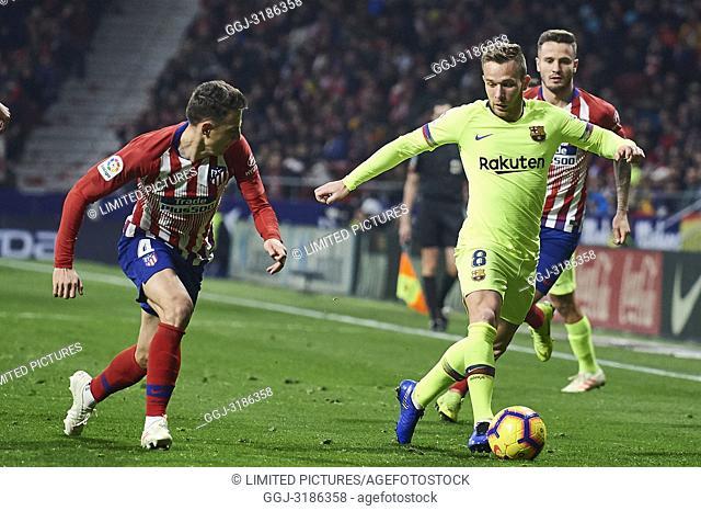 Arthur (midfielder; Barcelona) before La Liga match between Atletico de Madrid and F.C. Barcelona at Wanda Metropolitano on November 24, 2018 in Madrid, Spain