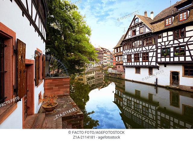 Petite France district. Strasbourg. Bas-Rhin. Alsace. France