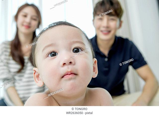 Portrait of baby with their parents