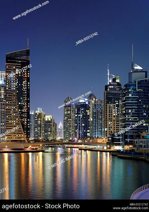 Dubai Marina skyline, United Arab Emirates