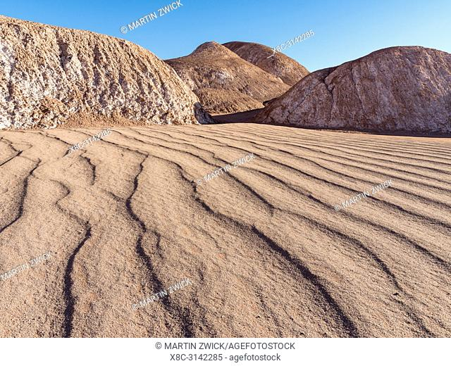 The Argentinian Altiplano near Tolar Grande and the Salar de Arizaro near the border to Chile. South America, Argentina
