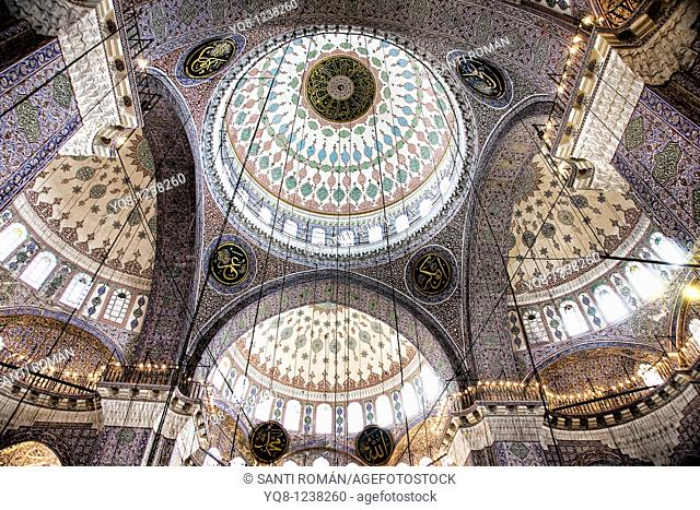 interior domes, The New Mosque, Mosque of the Valide Sultan, Istanbul, Turkey