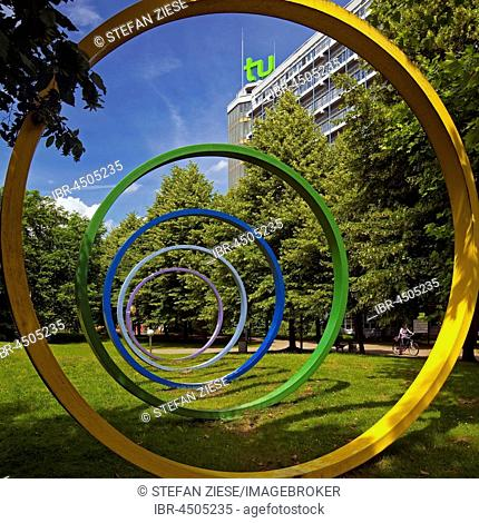 Technical University, TU Dortmund, Art on Campus North, Dortmund, Ruhr district, North Rhine-Westphalia, Germany