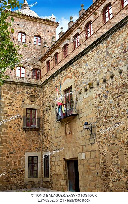 Romero Moctezuma house in Caceres of Spain at Extremadura