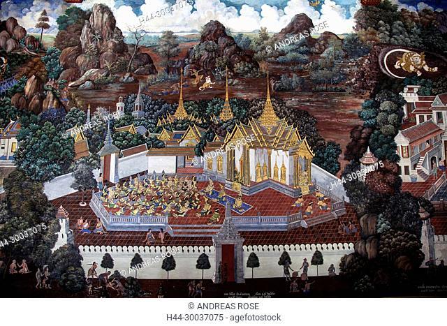 Wat Phra Kaew Royal Palace, Bangkok, Thailand