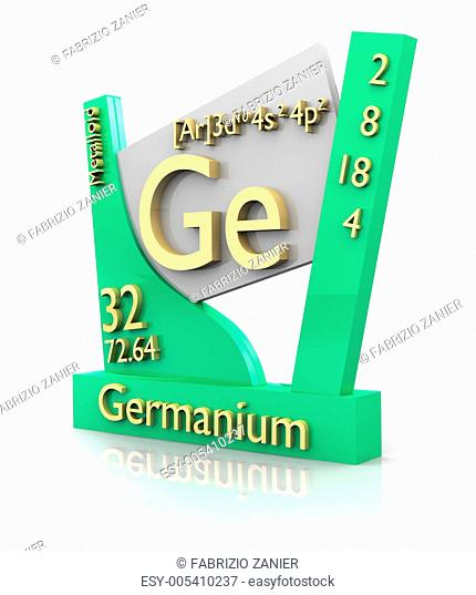 Germanium form Periodic Table of Elements - V2