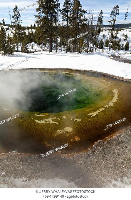 Morning Glory Pool, Winter, Upper Geyser Basin, Yellowstone NP, WY
