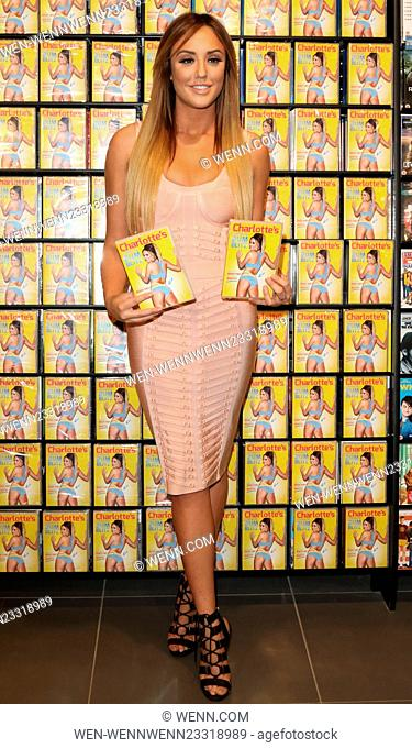 Charlotte Crosby signs copies of new fitness DVD 'Charlotte's 3 Minute Bum Blitz' at HMV Westfield, London Featuring: Charlotte Crosby Where: London