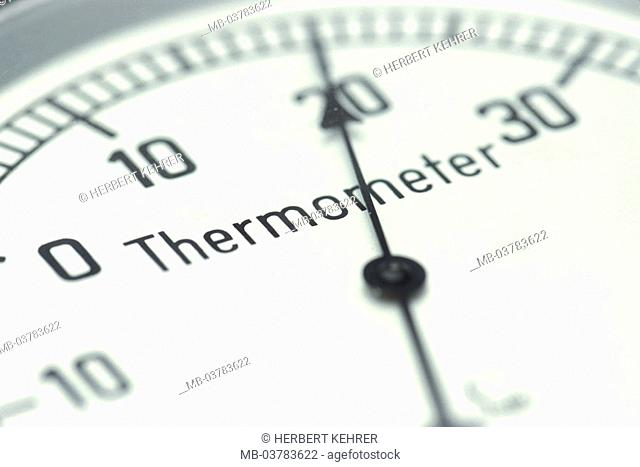 Thermometers, plus degree,  20 degrees Celsius, detail,   Temperature, scale, division, pointers, degree, Celsius, twenty, plus, heat, measures, thermometry