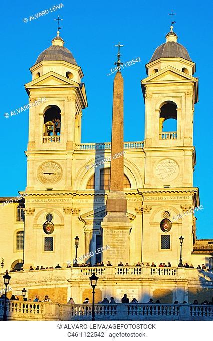 Spanish Steps and Church of Trinita dei Monti. Rome. Lazio.Italy