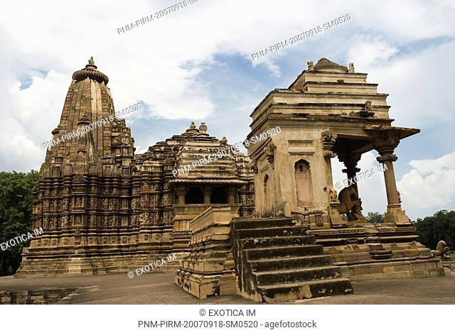 Architectural details of a temple, Khajuraho, Chhatarpur District, Madhya Pradesh, India