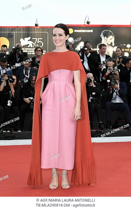 Claire Foy during 'First Man' premiere and Opening Ceremony, Arrivals, 75th Venice International Film Festival, Italy - 29 Aug 2018