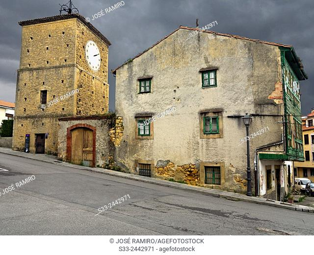 Clock Tower in Noreña. Asturias. Spain