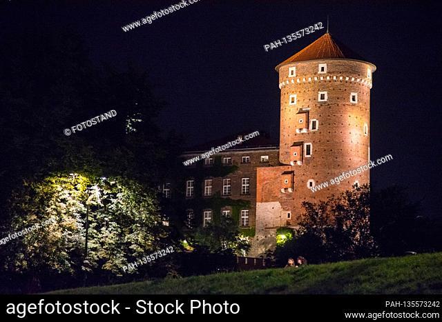 Poland, August / September 2020: Impressions Poland - 2020 Poland / Krakow-Krakau / Wawel Castle at aftert   usage worldwide. - /Polen