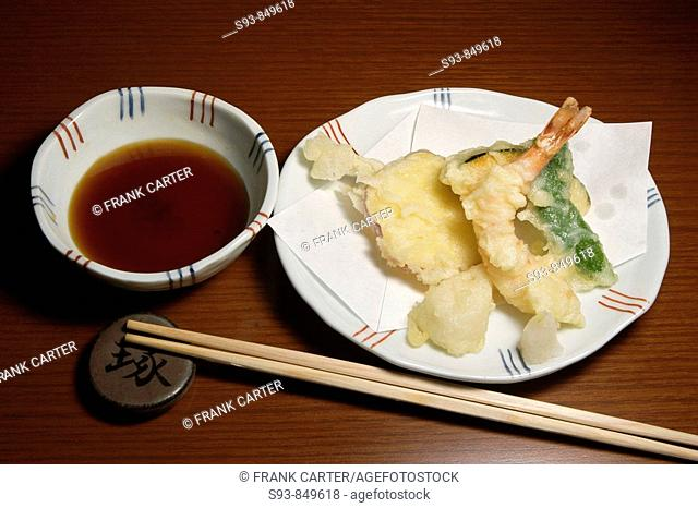 Tempura, one course of a Kaiseki lunch set, this style of food is said to be the pinnacle of Japanese cuisine, and an adjunct to the tea ceremony