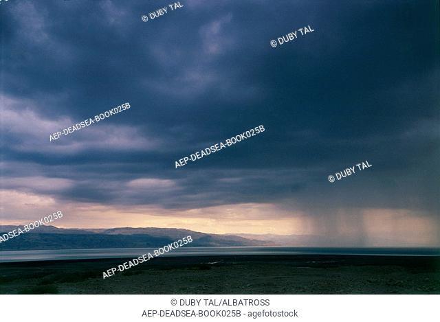 Rain on the Dead sea