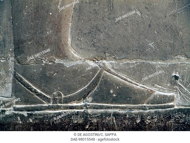 Relief of a foot, Mastaba of Mereruka, 2340 BC, Necropolis of Saqqara, Memphis (UNESCO World Heritage List, 1979), Egypt