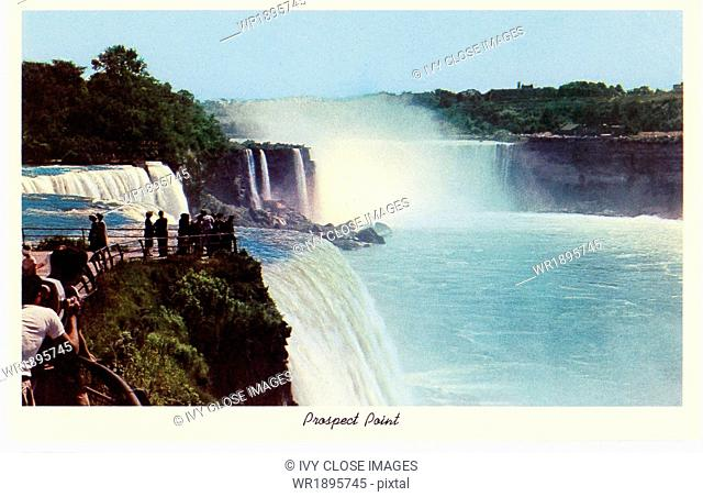 The illustration on this early 1930s postage shows Prospect Point at Niagara Falls in upstate New York