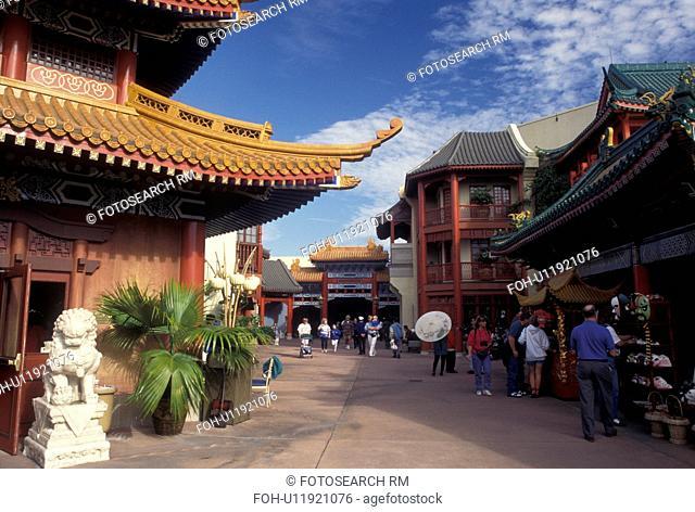 FL, Florida, Disney World, Orlando, World Showcase, China, Lake Buena Vista, Epcot, China presented at World Showcase at Epcot Center in Walt Disney World in...