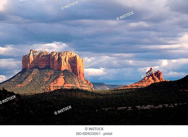 Cloudscape over scenic landscapes, Sedona, Arizona, USA