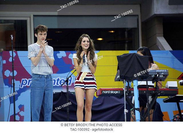 Troye Sivan and Laura Marano August 27,2016 Arthur Ashe Kids' Day at USTA Billie Jean King National Tennis Center Flushing Meadow, NY