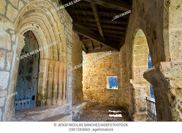 Romanesque hermitage of Santa María de la Hoz, in Tobera, Frías, in the Merindades county, Burgos