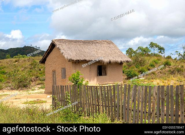 One typical house from the inhabitants of the island of Madagascar