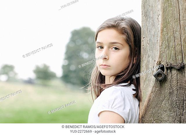 Young girl in the countryside