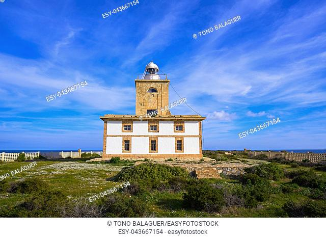 Lighthouse Faro of Nova Tabarca island in Alicante Spain