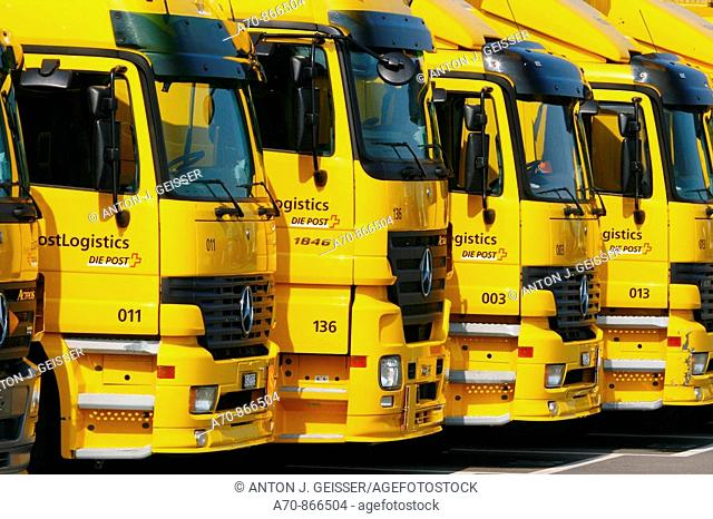 Schweizerische Post (Swiss Post), Mercedes trucks