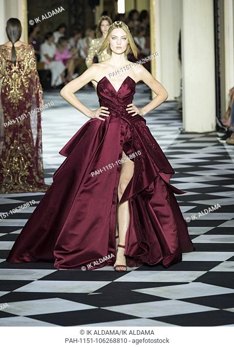 Zuhair Murad Couture runway during Haute Couture July 2018. Autumn - Winter 2018-19 Collection. Paris, France. 04/07/2018   usage worldwide