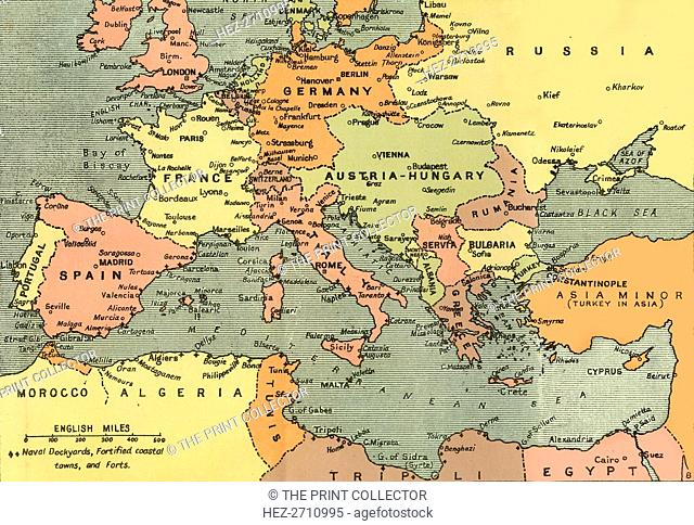 World war 1 map of the turkish Stock Photos and Images ...