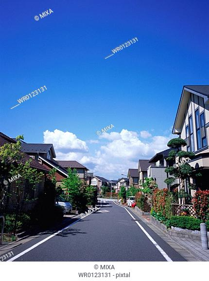 Residential district in Japan