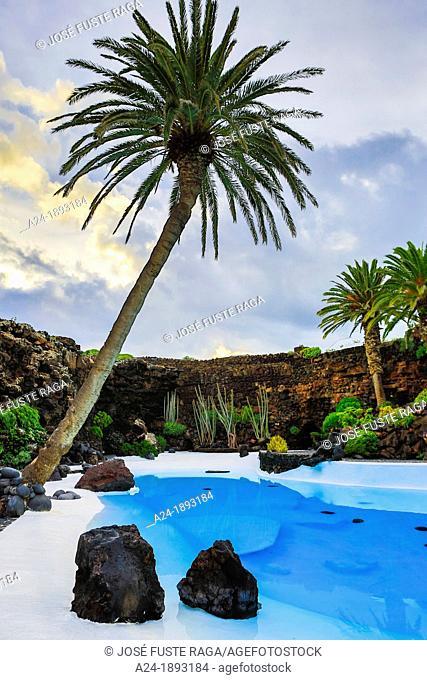 Spain , Canary Islands , Lanzarote Island, Jameos del Agua, the pool