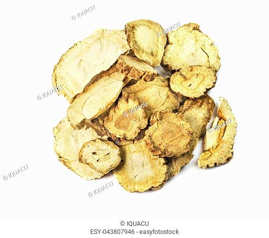 Radix Angelicae dahuricae, chinese herbal medicine isolated. Bai Zhi