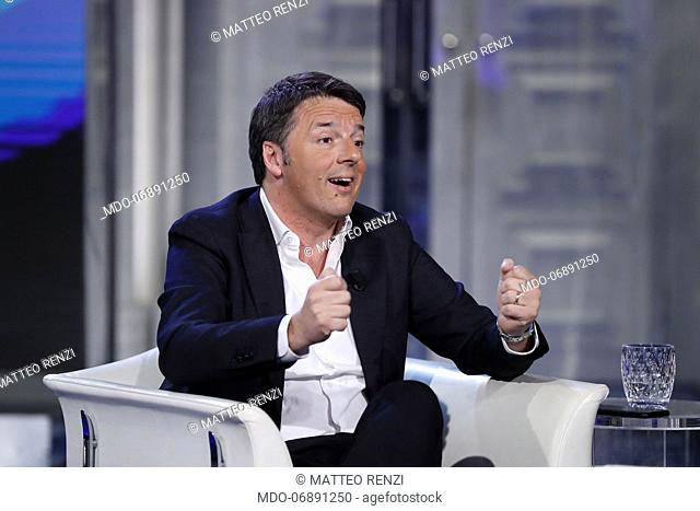 Former President of the Council of Ministers of the Italian Republic Matteo Renzi guest of the broadcast Porta a Porta. Rome (Italy), February 26th, 2019
