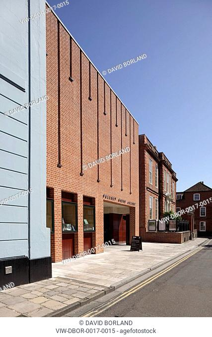 New Wing Pallant House Gallery, Long & Kentish / Colin St John Wilson, Chichester UK, 2006, West facade seen from North Pallant