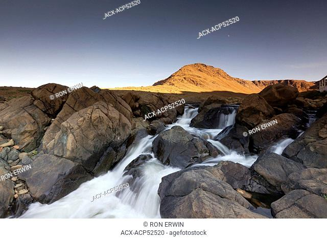 The Tablelands and the Winter House Brook Canyon in Gros Morne National Park, Newfoundland and Labrador, Canada