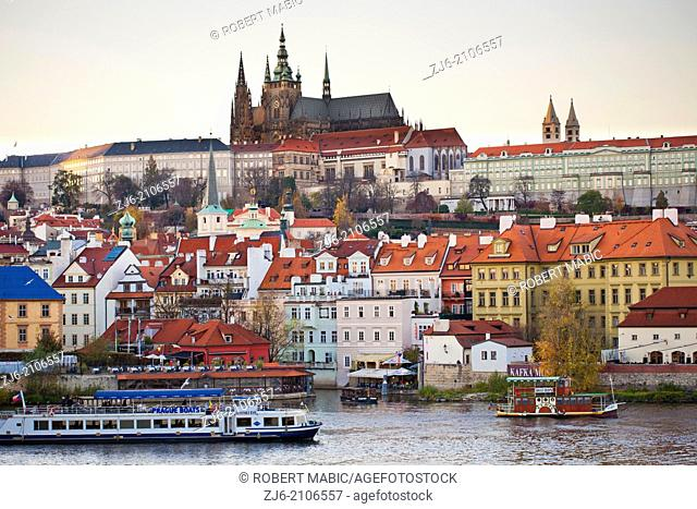 Prague view of historic Old town