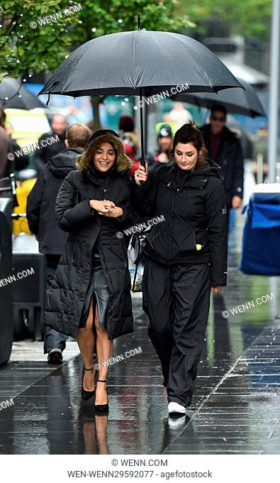 Cast of Snatch seen filming a scene in Manchester City Centre. The Scene is set in New York. Featuring: Stephanie Leonidas Where: Manchester