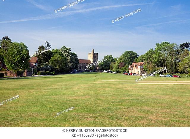 England Kent Benenden The Green with St  George's Church and Village School Building