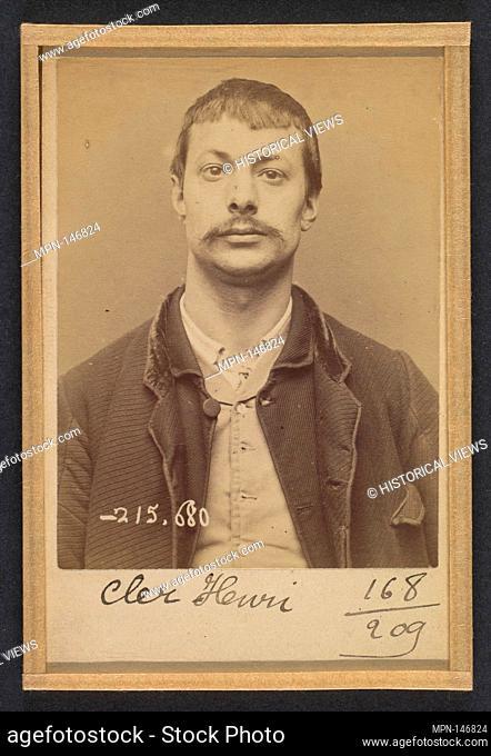 Cler. Henri. 31 ans, né à Paris XIe. Ébéniste. Anarchiste. 14/3/94. Artist: Alphonse Bertillon (French, 1853-1914); Date: 1894; Medium: Albumen silver print...