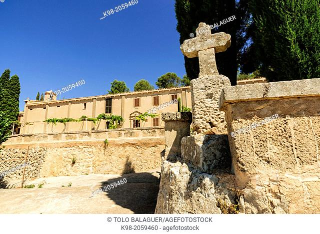 Sanctuary of Sant Honorat 1397, Mountain of Cura, Balearic Algaida.Mallorca.Islas. Spain