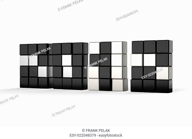 2012 in 3d blockart single wall