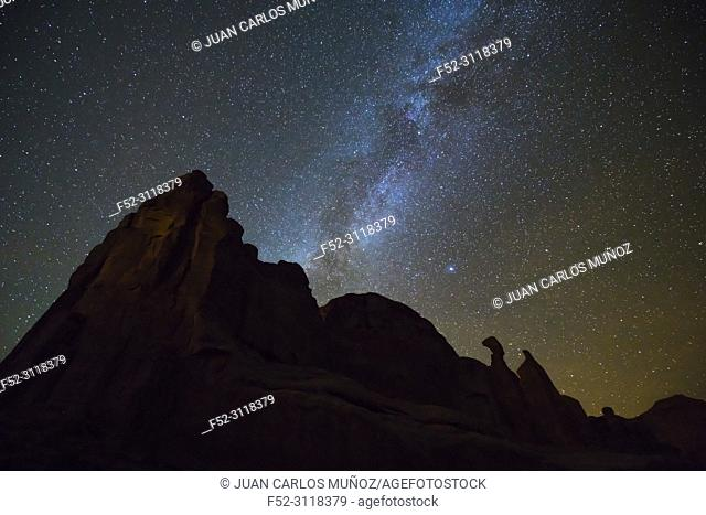 Stars, Park Avenue, Arches National Park, Colorado Plateau, Utah, Grand County, Usa, America