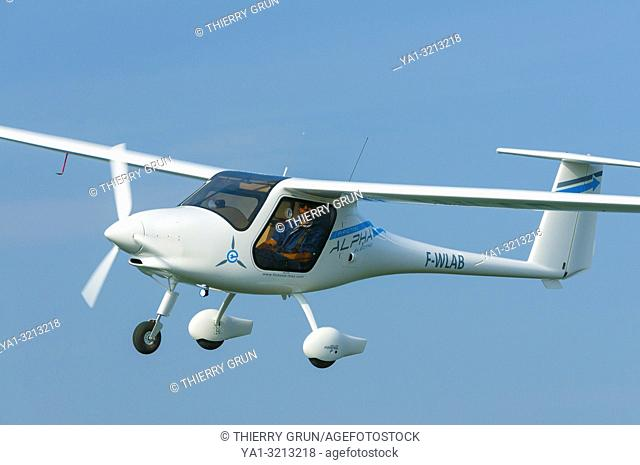 France, Bas-Rhin (67), Haguenau, new light airplane with electric motor Pipistrel Alpha-Electro
