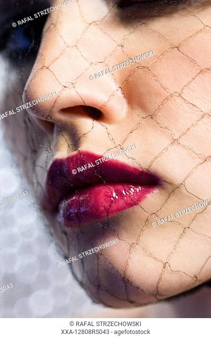 close-up of woman in beuaty makeup