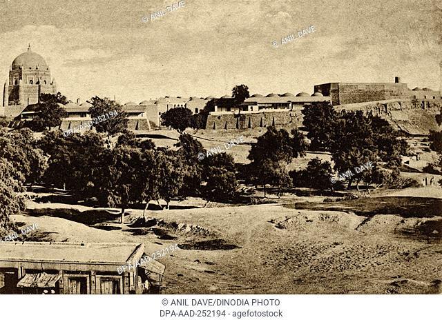 Vintage photo of police station, kotwali, ahmednagar, maharashtra, india, asia