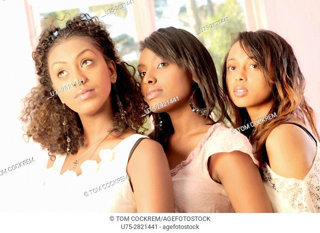 Young Ethiopian women in indoors setting
