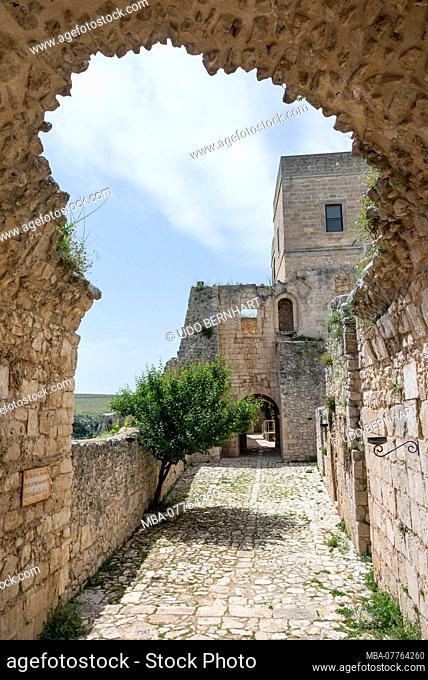 Italy, Mezzogiorno, Apulia / Puglia, Gargano, near Monte Sant'Angelo, Abbazia Tu Santa Maria di Pulsano pilgrimage site